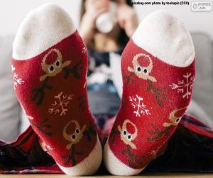 Puzzle Belles chaussettes de Noël