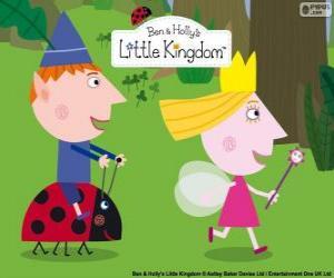 Puzzle Ben, Holly et Gaston, trois grands amis dans le petit Royaume