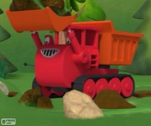 Puzzle Ben, la chenille camion