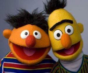 Puzzle Bert et Ernie, deux grands amis