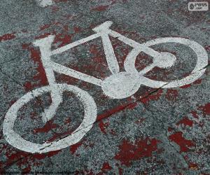 Puzzle Bicyclette peinte, signal