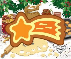 Puzzle Biscuit comme une étoile de Noël