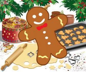 Puzzle Biscuit décoré de Bonhomme de pain d'épice