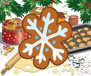 Puzzle Biscuit de flocon de neige