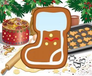 Puzzle Biscuit de la botte du Père Noël