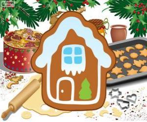 Puzzle Biscuit de Noël en forme de maison