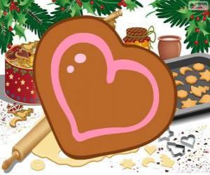 Puzzle Biscuit en forme de coeur