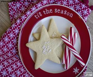 Puzzle Biscuits et cannes de Noel
