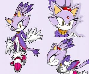 Puzzle Blaze the Cat, une princesse et un des amies de Sonic
