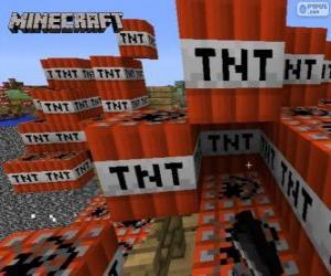 Puzzle Bloc explosif TNT de Minecraft