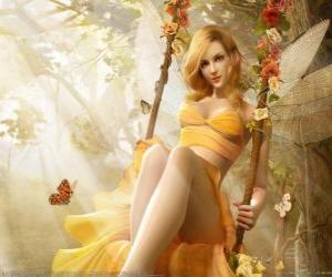 Puzzle Blonde de fées