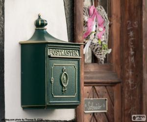 Puzzle Boîte aux lettres privée vert