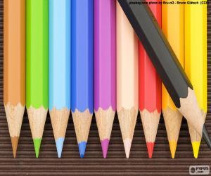 Puzzle Boîte de crayons de couleur