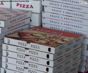 Puzzle Boîtes pour pizzas à la maison