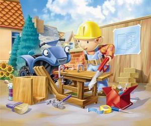 Puzzle Bob a travaillé comme charpentier