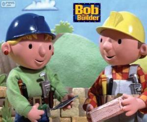 Puzzle Bob le Bricoleur et son partenaire Zoé organiser le travail de la journée