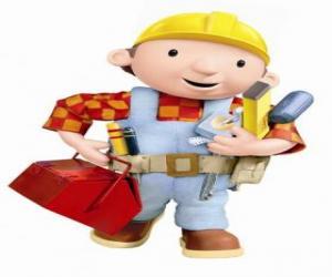 Puzzle Bob the Bricoleur avec ses outils