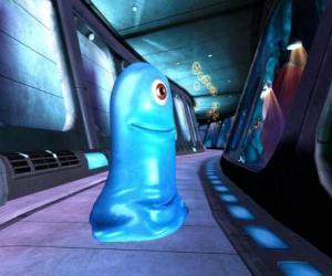 Puzzle BOB, une masse gélatineuse bleue indestructible