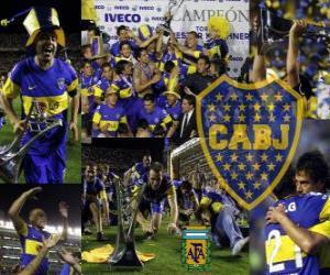 Puzzle Boca Juniors, champion de le tournoi Apertura 2011 de l'Argentine