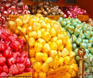 Puzzle Bonbons et ses couleurs