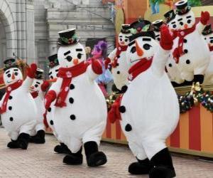 Puzzle Bonhommes de neige dansant