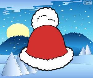 Puzzle Bonnet à gland blanc du père Noël