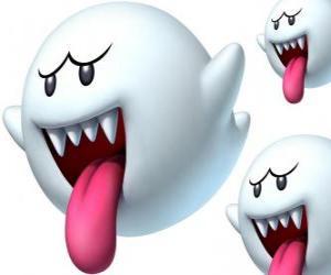 Puzzle Boo de Super Mario Bros. Les Boos sont des créatures spectrales avec des dents pointues et longues langues