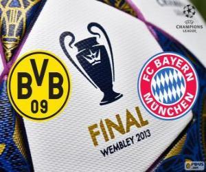 Puzzle Borussia Dormunt vs Bayern Munich. Finale de l'UEFA Champions League 2012-2013. Stade de Wembley, Londres, Grande-Bretagne