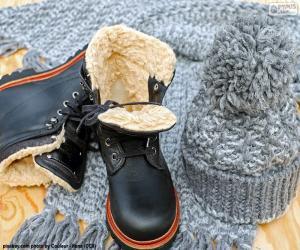 Puzzle Bottes d'hiver noir