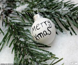 Puzzle Boule de Noël, Merry Xmas
