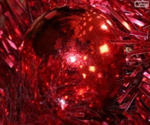 Puzzle Boule de Noël rouge