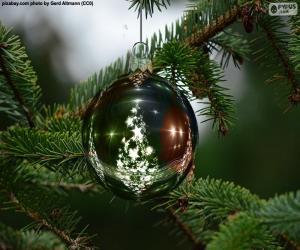 Puzzle Boule de sapin de Noël