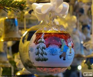 Puzzle Boule Noël de verre