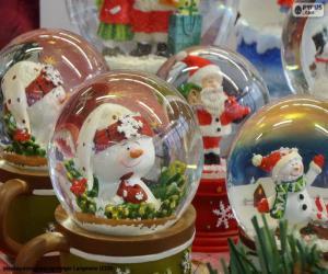 Puzzle Boules de neige de verre