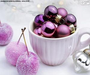 Puzzle Boules de Noël dans une tasse