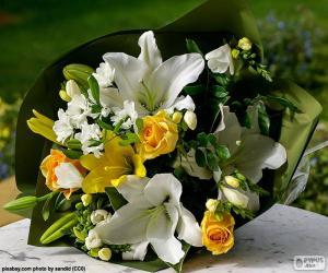 Puzzle Bouquet de la mariée