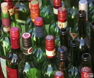 Puzzle Bouteilles de vin vides