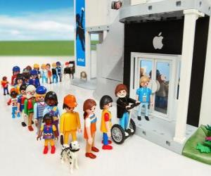 Puzzle Boutique Apple Playmobil
