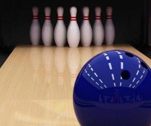 Puzzle Bowling. Bal vers les quilles de bowling