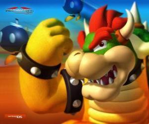 Puzzle Bowser ou Roi Koopa, le principal ennemi dans les jeux de Mario