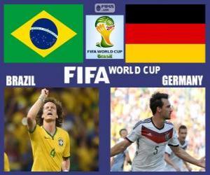 Puzzle Brésil - Allemagne, demi-finales, Brésil 2014