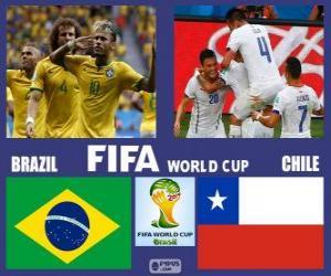 Puzzle Brésil - Chili, huitième de finale, Brésil 2014