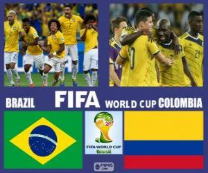 Puzzle Brésil - Colombie, quarts de finale, Brésil 2014