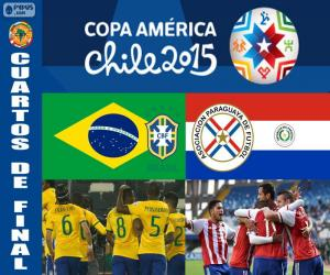 Puzzle BRA - PAR, Copa America 2015