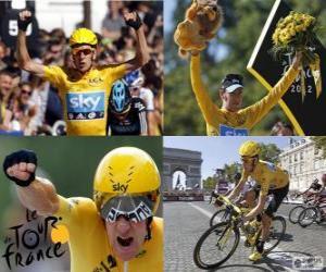 Puzzle Bradley Wiggins vainqueur du Tour de France 2012