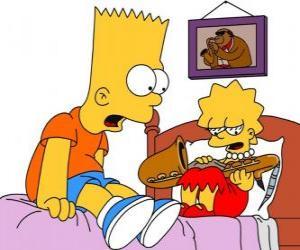 Puzzle Brat surpris de voir Lisa avec un instrument