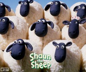 Puzzle Brebis du troupeau de Shaun