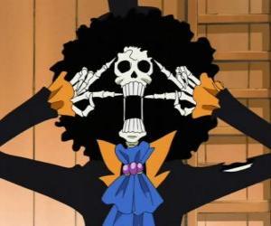 Puzzle Brook Le fredonneur, un squelette musicien de One Piece