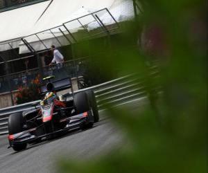 Puzzle Bruno Senna-HRT - Monte-Carlo 2010