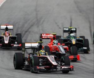 Puzzle Bruno Senna - HRT - Sepang 2010